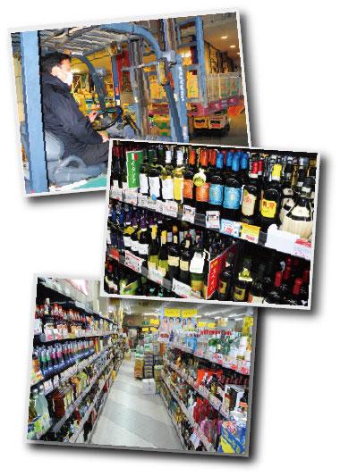 ワインや洋酒が豊富で配達もします